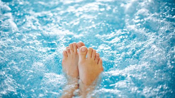 foam in hot tub